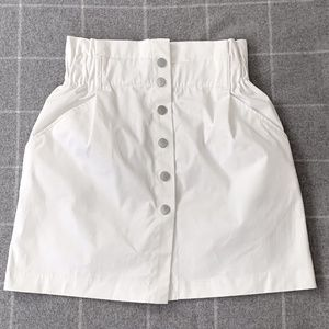 Zara trf white cotton skirt NWT - M